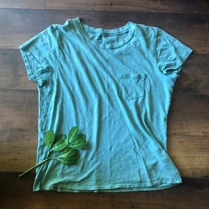 Madewell cotton teal pocket t-shirt size small